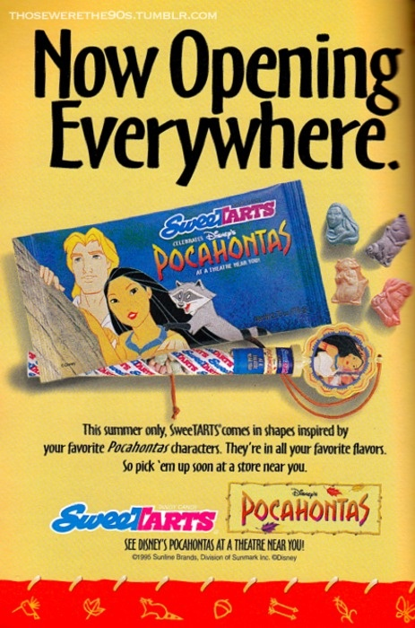 : Pocahontas Sweettarts, Childhood Memories, Absolutely Remember, 90 S Kids, Disney Movie