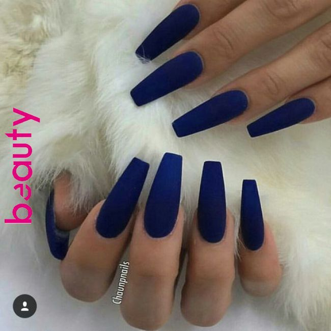 42 Coffin Acrylic Nail Ideas With Different Colors That You'll Want To Copy Co…