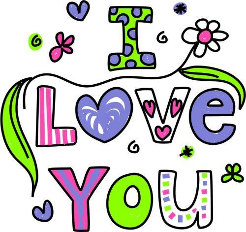 Colorful I Love You V-Day - KidsPressMagazine.com