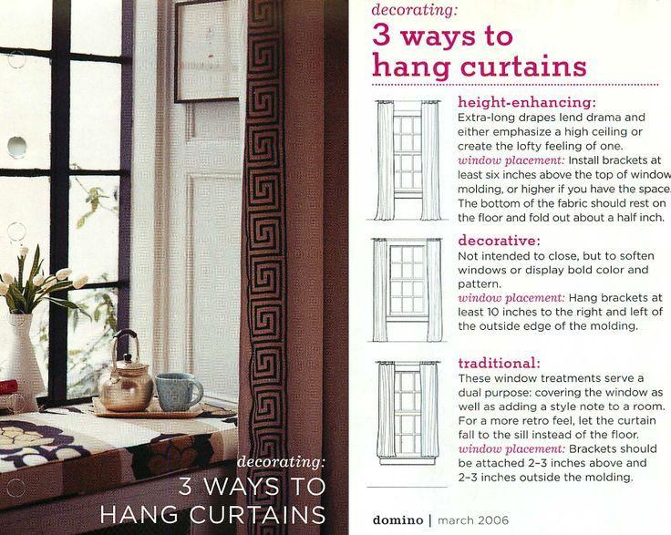 Proper Way To Hang Curtains Ways To Hang Curtains