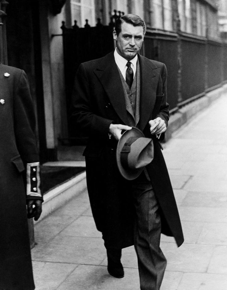 The definition of old school cool. Cary Grant in the 1950s...  *** He was a man's man.  ♥