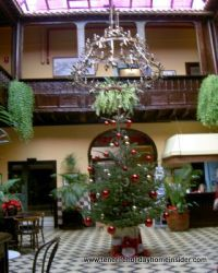 Christmas tree in the Marquesa hotel lobby in 2011.