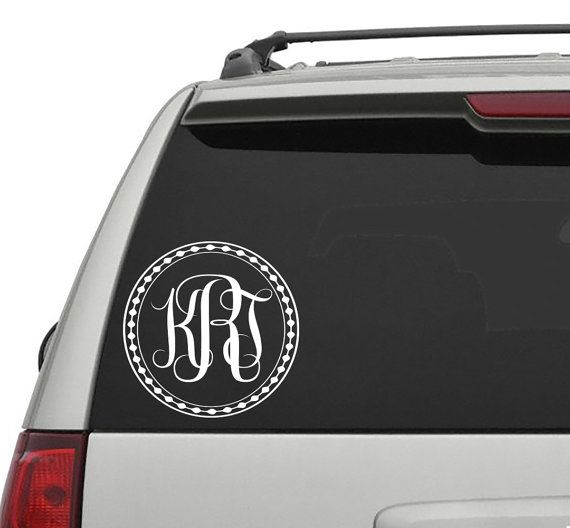 Car decals monogram decals removable car vinyl sticker initial letters decal decor vinyl sticker window truck decal stickers t46