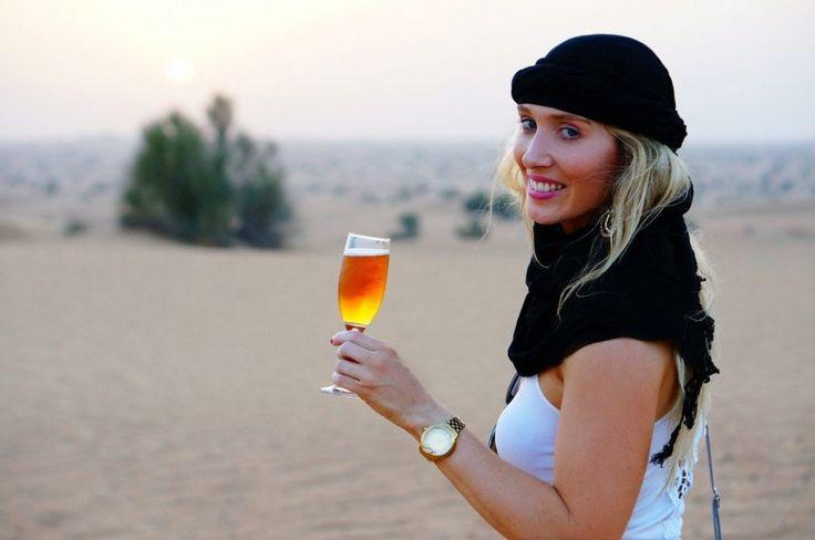 Taking in the beauty of the desert in Dubai.