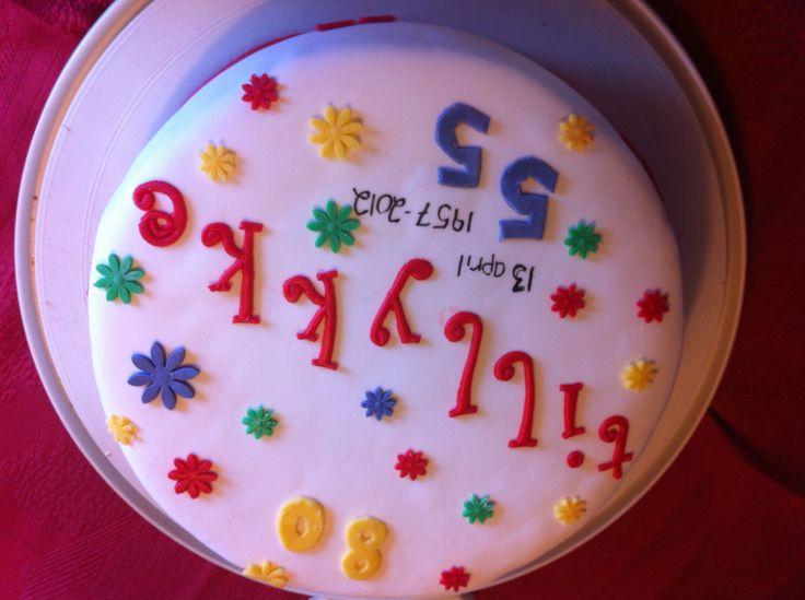 Fødselsdag og bryllupsdags kage