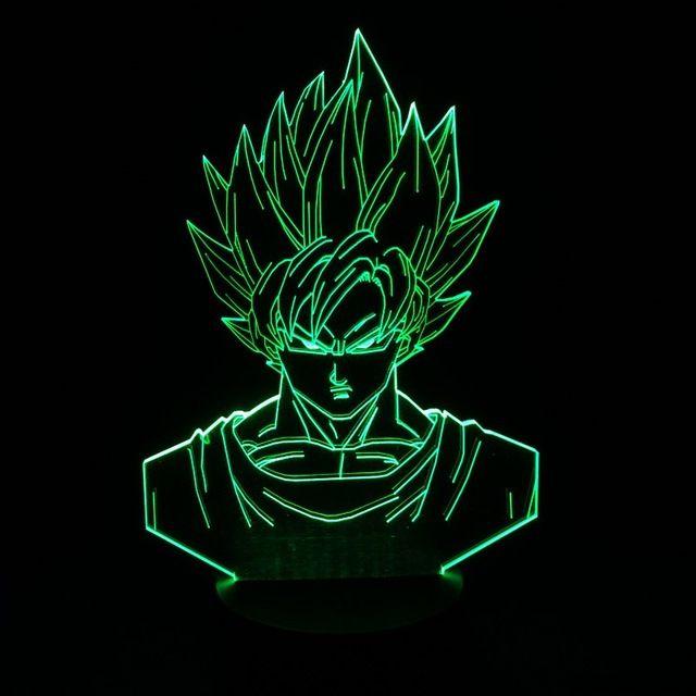 Dragon Ball Z Super Saiyan 3 Figurines D Action Goku 3d Lampe De Table 2016 Nouvelle Figurine 7 Aux Couleurs Changeantes Figurines Dragon Ball Z Banpresto Exp Dragon Ball Z Dragon Ball Goku