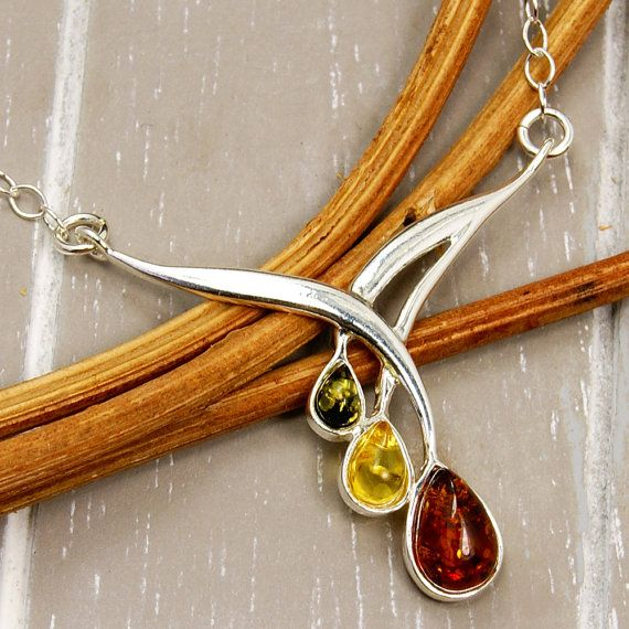 Elegant Baltic Amber From Poland & .925 Sterling by TheSilverPlaza