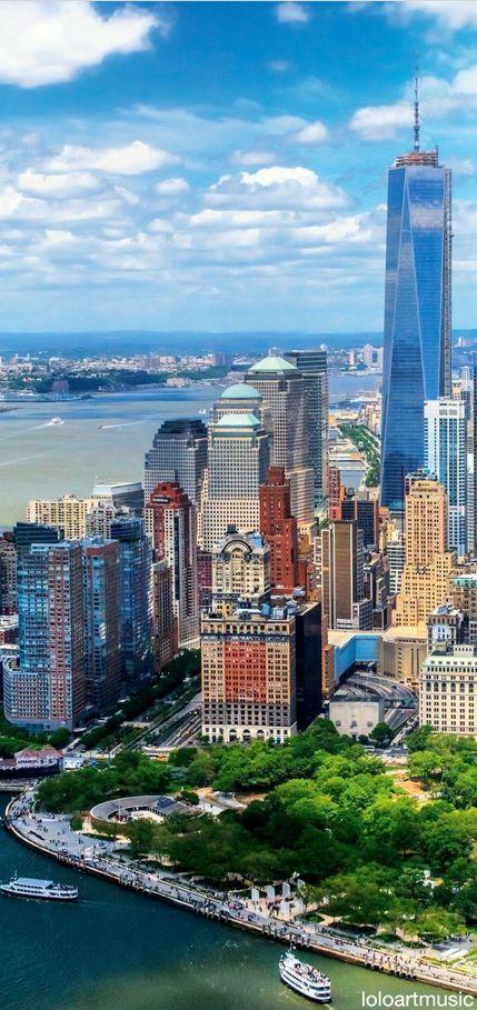 空から眺めるニューヨーク -ニューヨーク バッテリーパーク