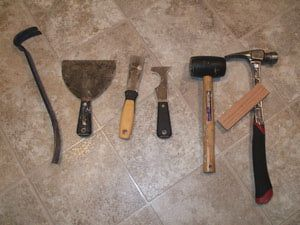 Remove Vinyl Flooring - Tools Needed - © Lee Wallender; licensed to About.com