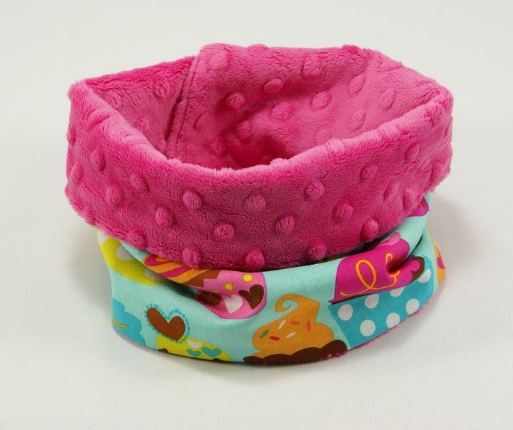 #scarf #kids #forkids #littlesophie #pink #handmade #cupcake #tubescarf