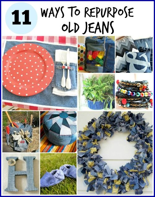 Think twice about ditching those old jeans! Here are 11 Clever Ways to repurpose those old jeans