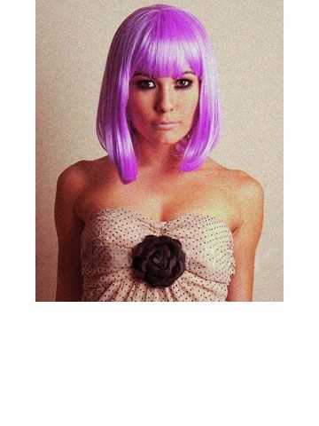 Forever Young Go Go Girl Costume Wig | VogueWigs ---- this one is actually the closest to how i like it cut lol. i'd end up getting a fun color and defeating the purpose of getting a wig in the first place tho