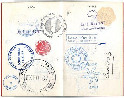 expo 67 | Expo 67 Passport Stamps