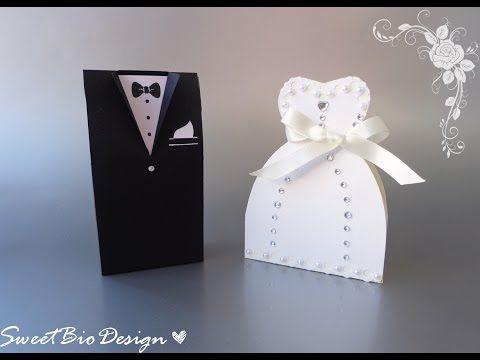 Tutorial: Bomboniere Abiti da Matrimonio - Wedding dresses favors - YouTube