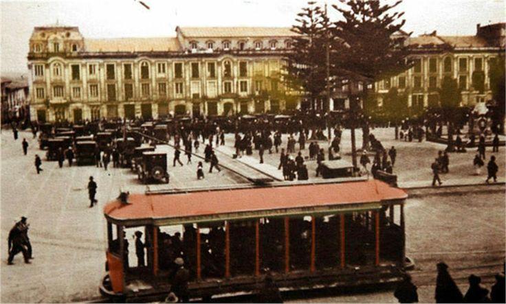 Tranvia año 1921 plaza de Bolivar
