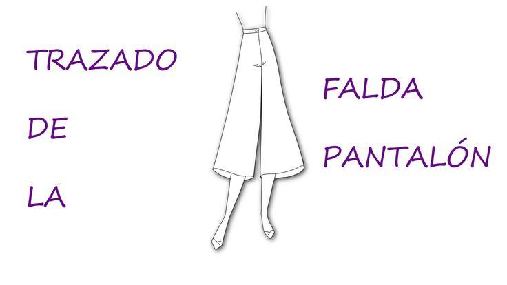 Curso para hacer patrones.Trazado de la falda pantalón.