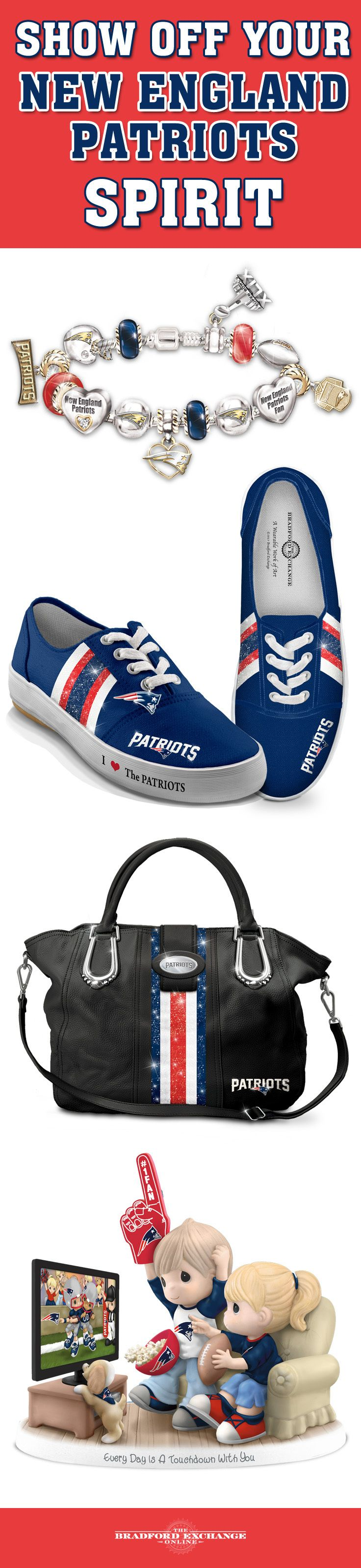 Go Pats! Put your loyalty proudly on display when you cheer on your team with NFL-licensed New England Patriots collectibles, jewelry and gifts!