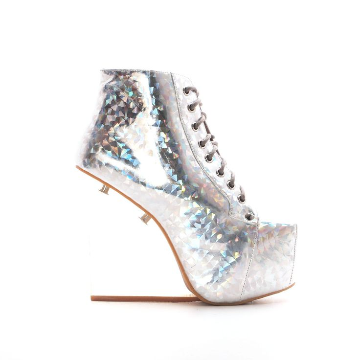 Jeffrey Campbell Dina in Silver Hologram