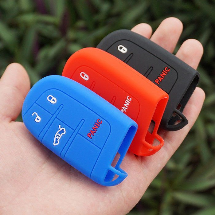Silicone Remote Key Fob Case Holder Cover Fit Jeep 2017 Renegade