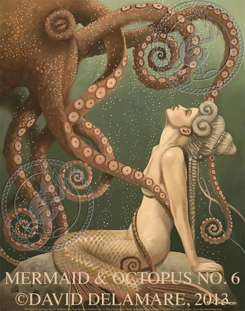 Mermaid & Octopus No. 6 by David Delamare