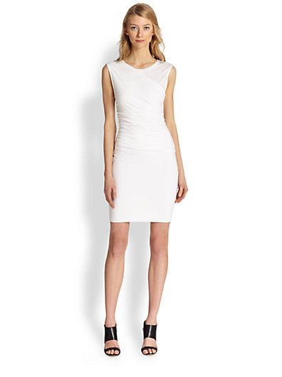 Theory - Asymmetrical Ruched Jersey Body-Con Dress - Saks.com