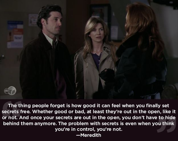 """Secrets can't be kept forever. 