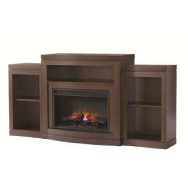 Home Decorators Collection Belarro 72 In Tri Level Media Console Electric Fireplace In