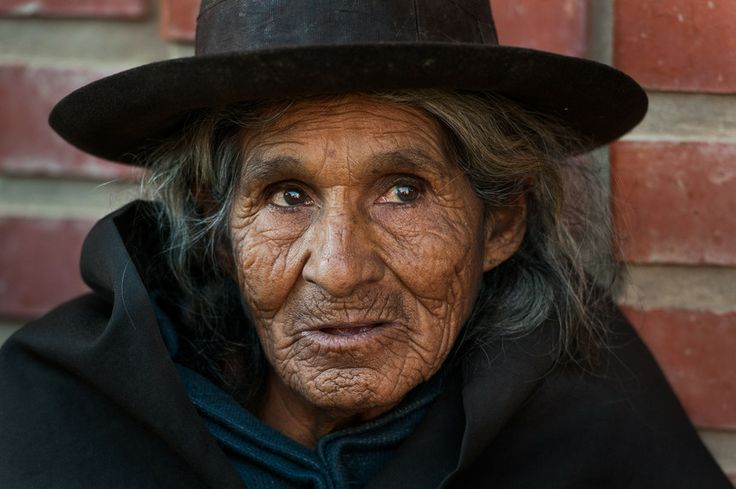 Bolivian old woman .