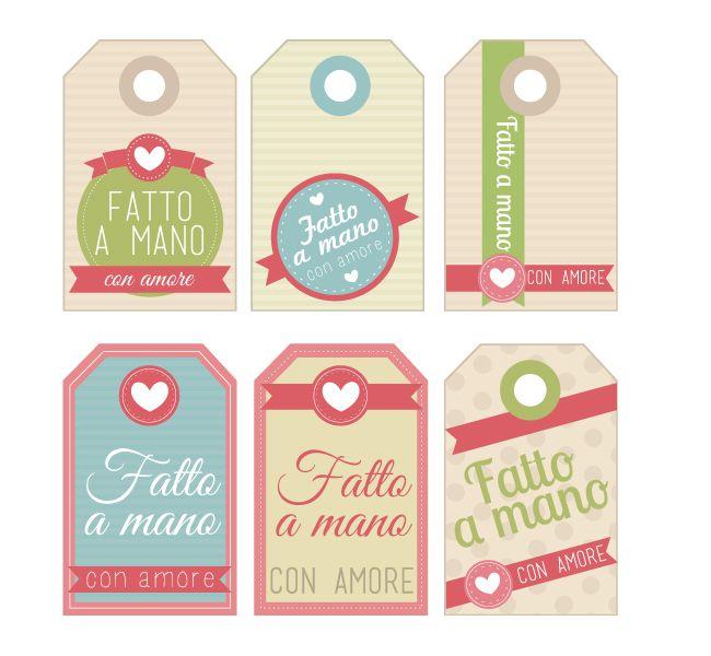 Home Shabby Home:Free Printables: Etichette Fatto a Mano con Amore