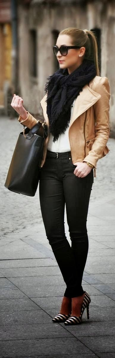 Hot jacket, scarf and outfit for winter