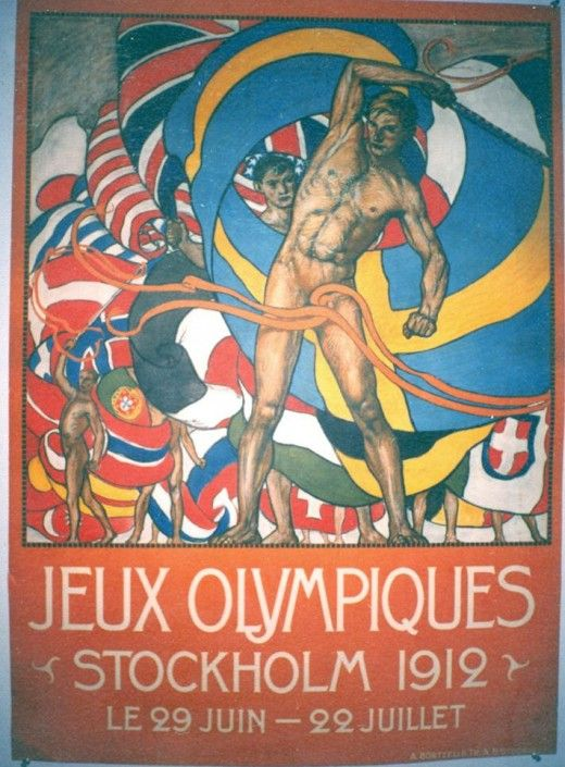 Jeux Olympiques 1912: Vintage Posters, Stockholm 1912, 1912 Stockholm, Olympics Games, Olympics Posters, Games Posters, Public Libraries, Travel Posters, 1912 Olympics