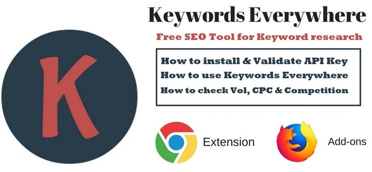 Keywords Everywhere Free Seo Tools Words Keywords