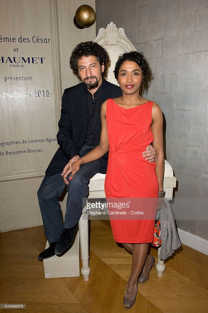 Radu Mihaileanu and Sara Martins attend Chaumet's Cocktail Party and Dinner for Cesar's Revelations 2010.