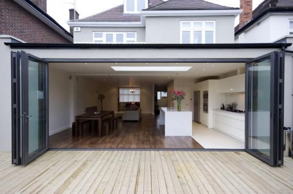 Image result for 1930s house rear kitchen extension - Pitched roof extension with velux windows for increased light. Description from pinterest.com. I searched for this on bing.com/images