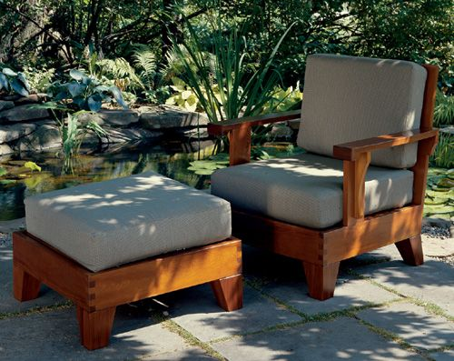 Build A Cedar Chair And Ottoman