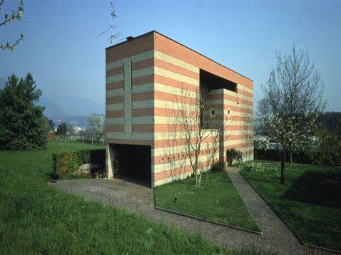 House in Ligornetto,Ticino, Switzerland, 1975-1976 by Mario Botta