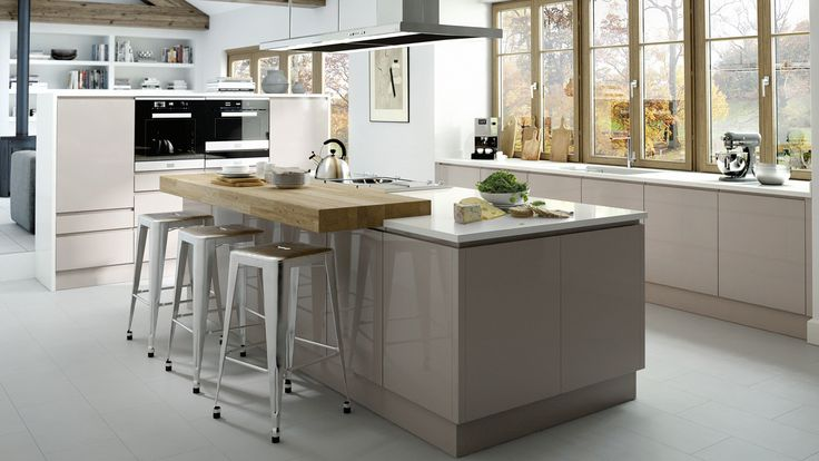 In-Line Gloss Cashmere - Our Kitchens - Sheraton Kitchens - New Range! #sheratonkitchens