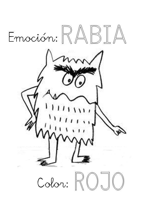 Imagen relacionada | Las emociones para niños, Monstruo de