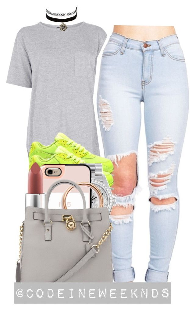 """9:6:15"" by codeineweeknds ❤ liked on Polyvore featuring Topshop, Rolex, Casetify, MAC Cosmetics, Michael Kors and Charlotte Russe"