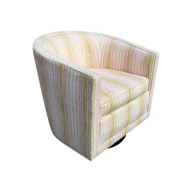 edward wormley for dunbar swivel club chair