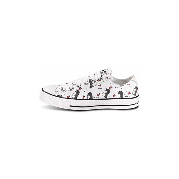Journeys Shoes: Converse All Star Lo Penguin - White found on Polyvore