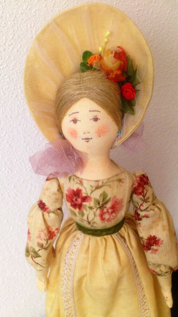 Art doll. Author's textile doll Young Lady