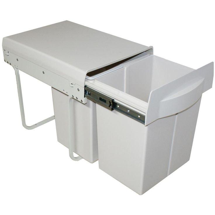 Poubelle de cuisine encastrable - 2x20 litres CACPO006 - Cuisissimo