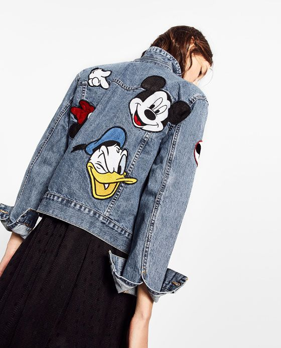 Image 3 of PRINTED DENIM JACKET from Zara