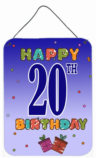 Happy 20th Birthday Hanging Aluminum Painting Print