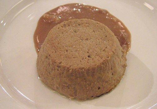 Pate' di fegato su crema di pane all'aceto balsamico