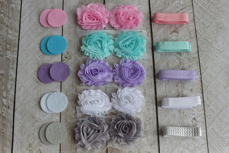 DIY Pastel Shabby Headband Kit - Baby Shower Headband Kit