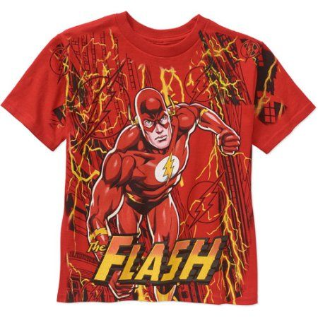 DC Comics The Flash Boys Graphic Tee, Boy's, Size: 10/12, Red