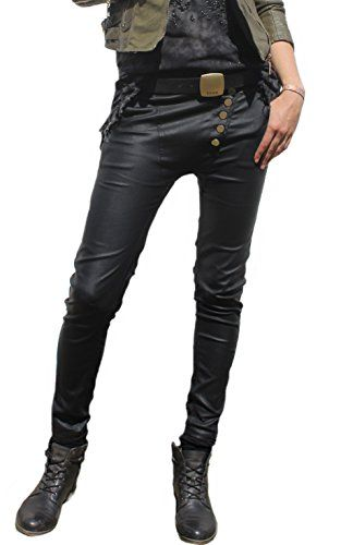 Damen Chino Biker-Hose Lederlook beschichtete Schmale Boyfriend-Jeans 40 SIS http://www.amazon.de/dp/B013ZQRPH6/ref=cm_sw_r_pi_dp_RuPowb1FXHYJV