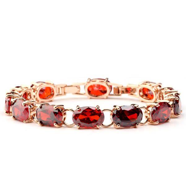Браслет с красный CZ бриллиантовый браслет из био-магнитного браслет на оптовая продажа ювелирных изделий